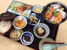 団体様お食事メニュー【双葉山みそチャンコ鍋定食】